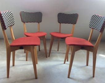 Set of 4 vintage mid century chairs