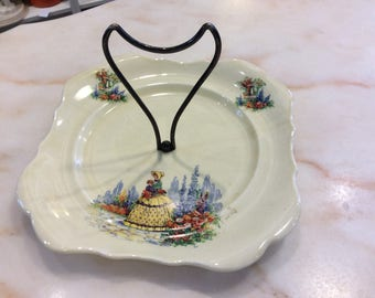 Englishware...Made in England...Square handled plate