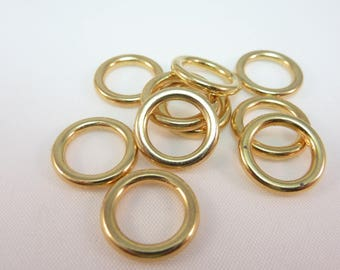 10 rings 13mm color gold