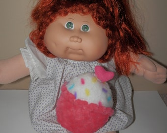cabbage patch 1982 red haired doll ginger red head vintage
