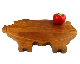 "The Big Pig Cutting Board - Cherry - 19"" x 12"" x 7/8"""