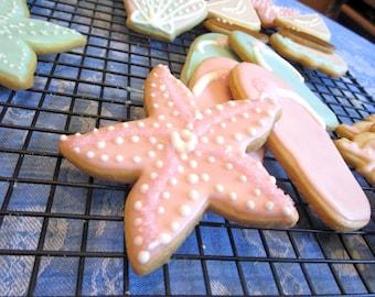 Pink Starfish Cookies
