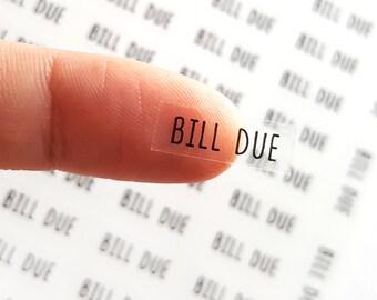 53 Bill Due Stickers, Planner Stickers Bills, Bills Stickers, Happy Planner, Erin Condren Planner Stickers Passion Planner Stickers Classic