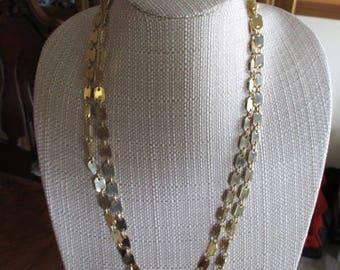 Vintage Gold Tone Chain Link Necklace