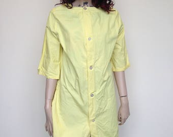 Yellow Coverall With Back Pocket for supplies!