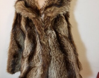 FREE  SHIPPING  Racoon  Fur  Jacket