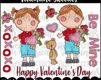 Valentine Sweeties Clipart Collection- Immediate Download