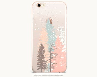 iPhone 8 Case iPhone X Case iPhone 7 Case Blush Forest Clear GRIP Rubber Case iPhone 7 Plus Clear Case iPhone SE Case Samsung S8 Case 280