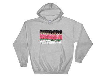 Those Pink and Green Ladies Hooded Sweatshirt
