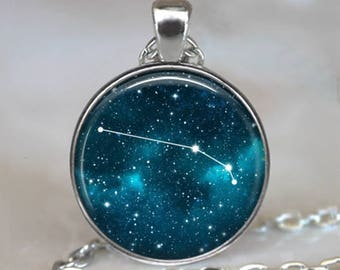 Aries Constellation necklace, Aries necklace Aries pendant constellation key chain Zodiac constellation jewelry astrology key ring key fob