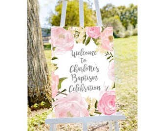 Baptism welcome sign, Welcome to baptism sign, christening sign, welcome to christening sign, PRINTABLE welcome sign, baptism decorations