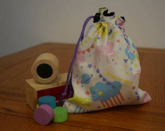 Unicorn Heaven Drawstring Toy Bag/Dice Bag