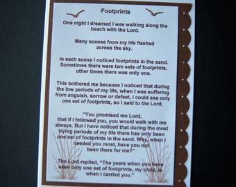 Footprints Inspirational Card
