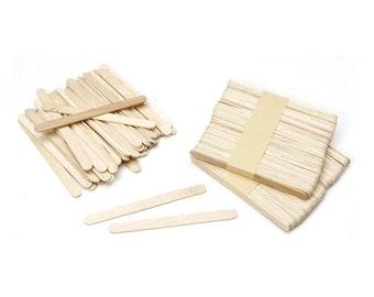 "150 Wood Craft Sticks (Popsicle Sticks), 4.5""x 3/8"""