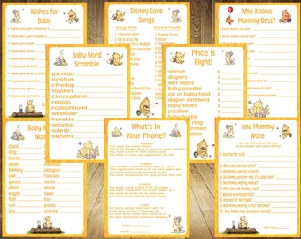 Create Your Own Game Bundle, Winnie the Pooh Baby Shower Games, Classic Pooh Baby Shower Games, Pooh Baby Shower Games, Pooh Baby Shower