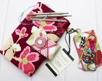 Interchangeable Case - Knitting Needle Case - 5 inch Circulars - Addi Turbo Needles - Knitting Supply Case - Needle Organizer - Knitter Gift