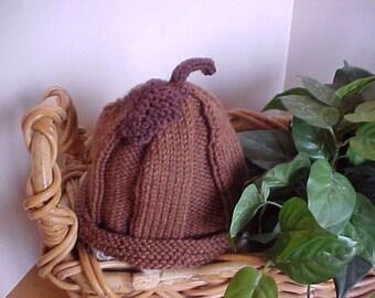 Acorn Hat Handknitted NB to 4 yrs size Handmade