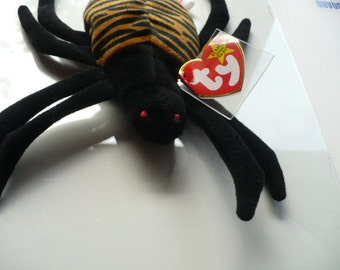 Spider Stuffed Animal, Nursery Decor, Gift For Boys, Ty Beanie Babies, Stuffed Spider, Graduation Gift, Spider Toy,  Plush Spider