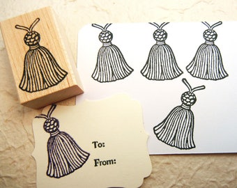 Tassel Rubber Stamp - Handmade by Blossom Stamps