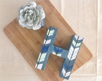 arrow print // hand painted letter or number