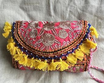 Brocade evening clutch, cross body bag