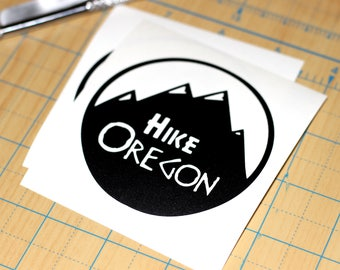 Hike Oregon decal  | Oregon Hiking scene sticker
