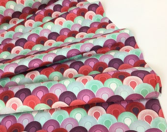 Chain Mail Plum Color  ~ Elizabeth Collection by Tula Pink for Free Spirit Fabrics ~ Quilting Cotton Fabric