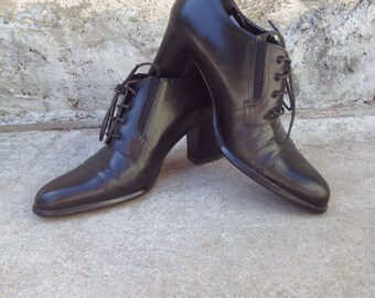 Black Heeled Oxfords