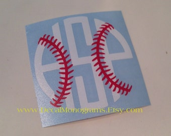Baseball / Softball Monogram Vinyl Decal/ Car Monogram