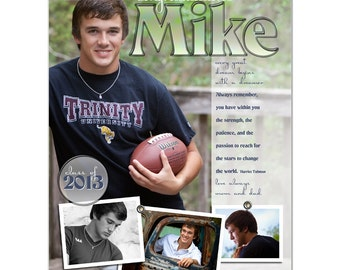 Senior Yearbook Ads Photoshop Templates - HOT SHOTS - High School Yearbook Ad Custom Design