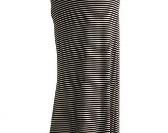 Black & White Striped Maxi Skirt
