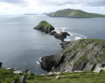 Ireland Coastal Photography Dingle Peninsula Coast Slea Head Photo Blasket Islands Wall Art Nature Photograph Irish Print Seaside Style