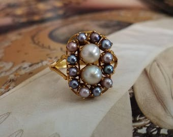 Antique Pearl 18K Gold Ring