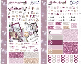 Literature Lover - Personal Weekly Kit - Removable Vinyl (Matte) - Planner Stickers