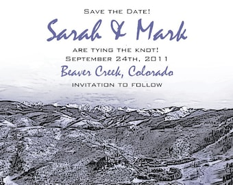 Rocky Mountain Save the Date or Invitation