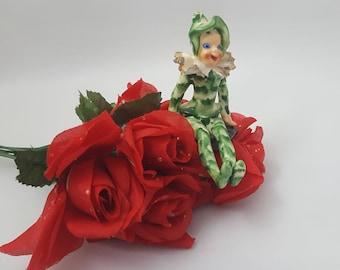 Japan Figurine, Court Jester, Clown ~ Vintage 1950's
