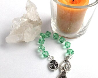 Pale Green Goddess Gratitude Beads // Pagan // Wiccan