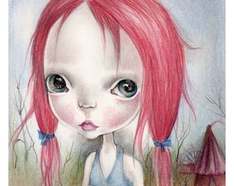 "Original painting,mixed media,...""candy circus""collection"
