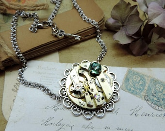 Steampunk necklace, basic, purist collection