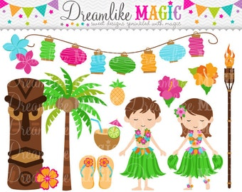 Luau Party- Clipart for Personal or Commercial Use