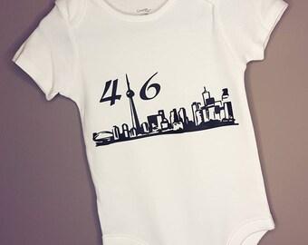 Toronto 416 baby onesie