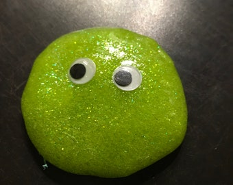 Mr. Blobster slime with googly eyes
