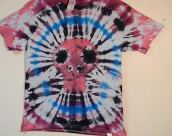 Youth Medium Skull Tie Dye T Shirt