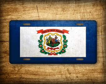 West Virginia Flag License Plate WV State Official Flag Symbol Auto Tag 6x12 Aluminum Metal Sign