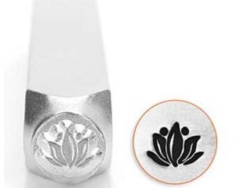 Lotus Flower Stamp 6mm