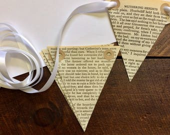 Wuthering Heights Bunting - Emily Bronte - Vintage Book - Book Bunting - Wedding Decor