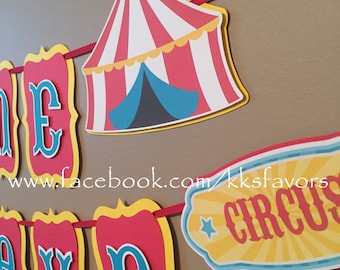 Carnival Banner / Circus Banner / Circus Baby Shower Banner / Carnival Baby Shower Banner