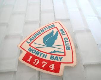 Ski Club Patch CANADA 1974 - Laurentian Ski Club North Bay