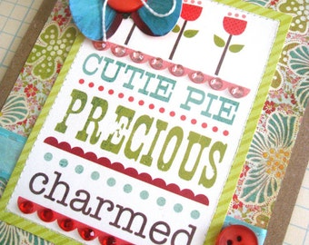 20% OFF SALE - Cutie Pie  . . . Handmade Greeting Card