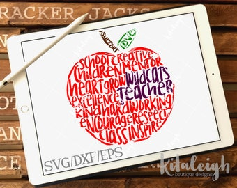 Messy Widcats Teacher INSTANT DOWNLOAD in dxf, svg, eps for use with programs such as Silhouette Studio and Cricut Design Space